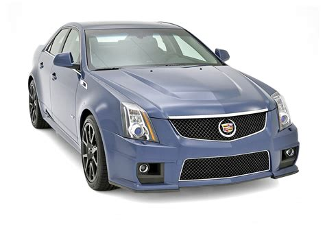 2013 Cadillac Cts-v Silver Frost And Stealth Blue Limited