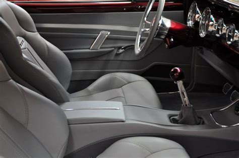 chevelle custom interior tiburon seats grey red console
