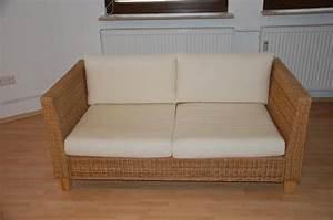 Rattan Couch Mit Schlaffunktion : rattan couch sofa zweisitzer von ikea in h chst polster sessel couch kaufen und ~ Indierocktalk.com Haus und Dekorationen