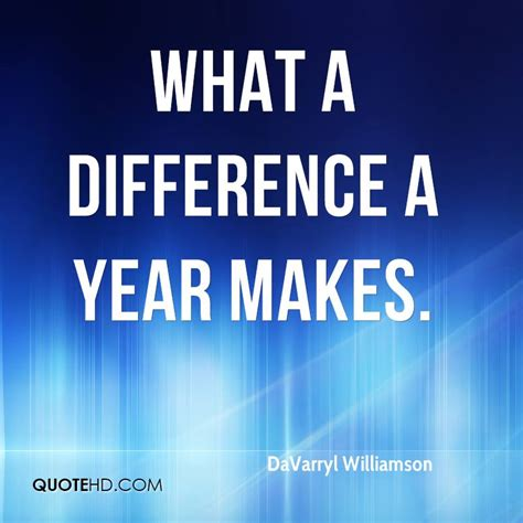 What Makes A Difference A Year Quotes Quotesgram