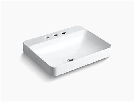 kohler vox sink template k 2660 8 vox rectangle vessel sink with 8 inch centers
