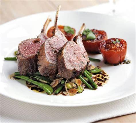 rack  lamb  warm salad  mixed beans slow roast