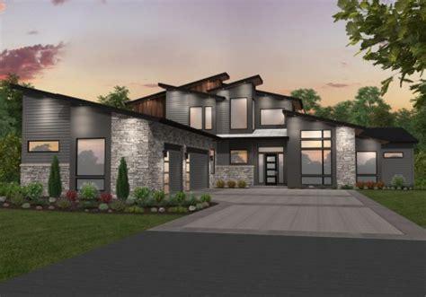 shaped house plans  side garage house design ideas