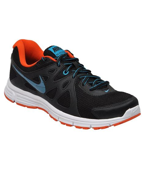nike revolution 2 msl black and lagoon blue sports shoes