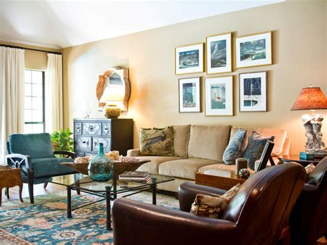 Transitional Living Room Leather Sofa by Photos Hgtv