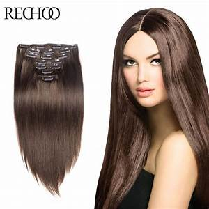 Remy 16 26 Inch Clip In Hair Extensions Dark Brown 20 Remy