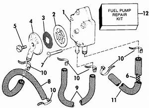Johnson Fuel Pump Parts For 1984 70hp J70elcrd Outboard Motor