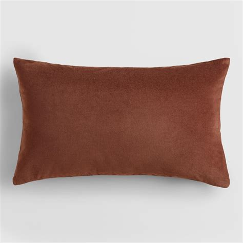 brown lumbar pillow chocolate brown velvet lumbar pillow world market
