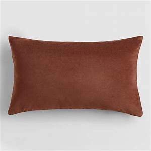 Chocolate brown velvet lumbar pillow world market for Brown velvet lumbar pillow
