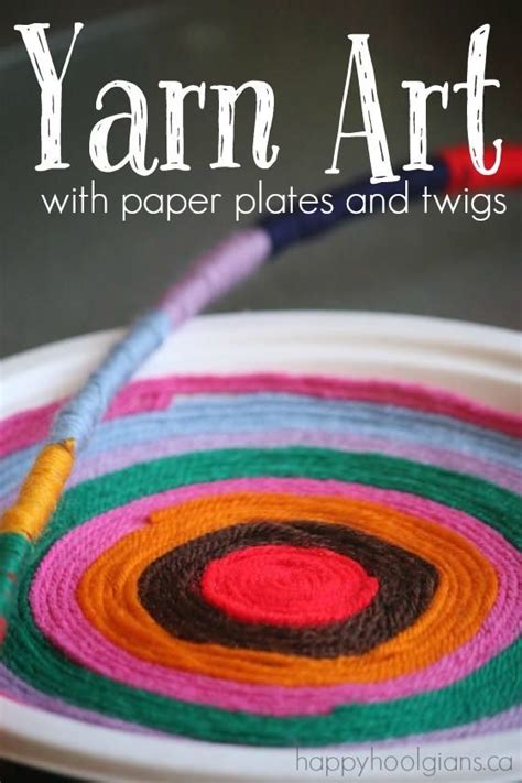 simple beautiful yarn art  paper plates paper plate