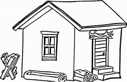 Coloring Log Cabin Advertisement
