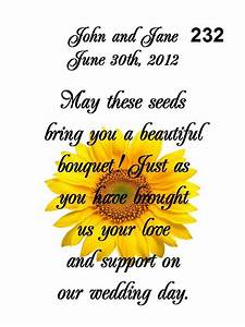 Wedding favors seed packets personalized sunflower 100 qty for Sunflower seed packets wedding favors