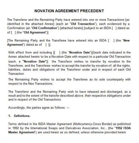 Novation agreement form platinumwayz