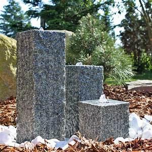 Pumpe Für Gartenbrunnen : clgarden granit springbrunnen sb2 3 teiliger s ulenbrunnen steinbrunnen wasserspiel ~ Eleganceandgraceweddings.com Haus und Dekorationen