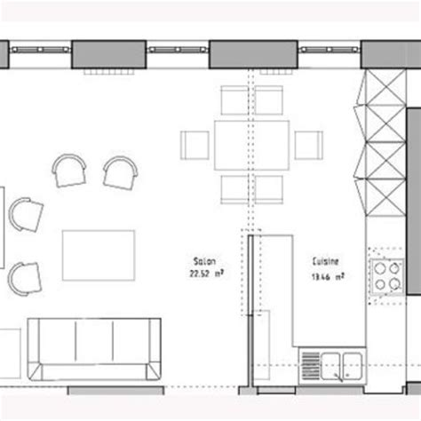 plan de cuisine ouverte plan de cuisine en ligne avec photo des réalisations de