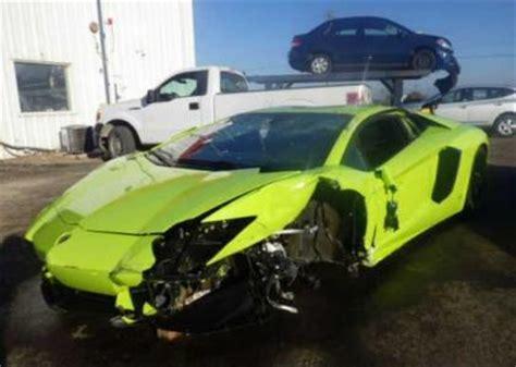 crashed lamborghini for sale export salvage 2014 lamborghini aventador awd green on black