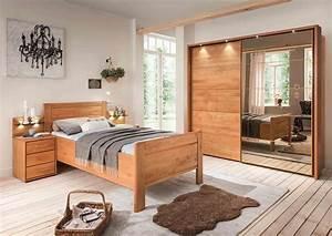 Bett Liegefläche 100x200 : schlafzimmer in erle teilmassiv schwebet renschrank mit spiegelt r in parsol bronze bett mit ~ Markanthonyermac.com Haus und Dekorationen