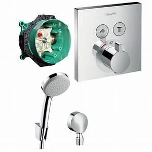 Hansgrohe Thermostat Unterputz : hans grohe shower select thermostat unterputz wannen armatur set up croma 100 ebay ~ Frokenaadalensverden.com Haus und Dekorationen