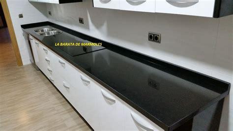 granito negro san gabriel cubierta cocina