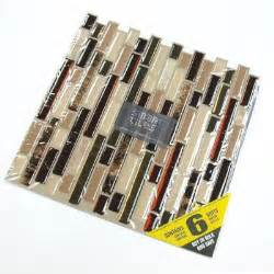 self stick kitchen backsplash smart tiles 10 13 in x 10 in peel and stick mosaic decorative wall tile in bellagio 6 pack