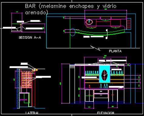 bar cabinet details  dimensions  dwg detail
