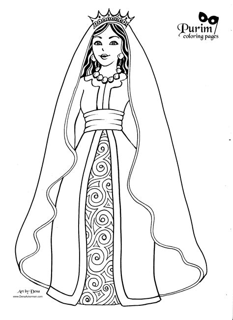 esther  page  great coloring pages  purim