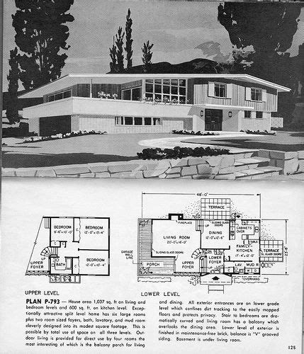 split level plan p   sportsuburban  flickr planos de casas   pinterest mid