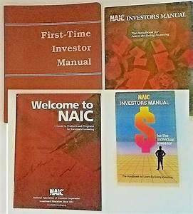 Book Lot 4 Naic Manual Club Ed Instructor Guide National