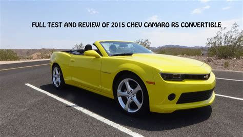What You Need To Know About The 2015 Chevrolet Camaro Rs