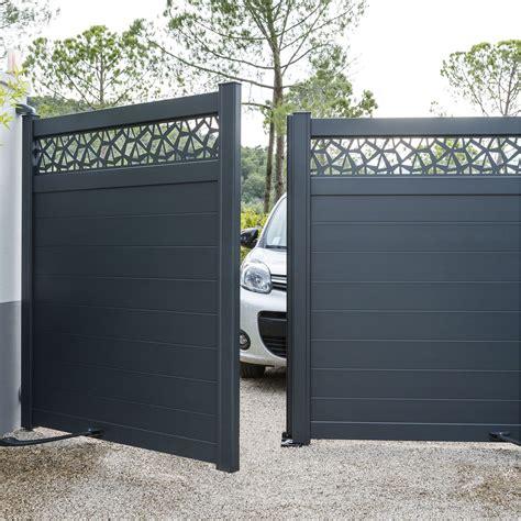 portail sur mesure leroy merlin portail battant aluminium avignon gris l 300 cm x h 164