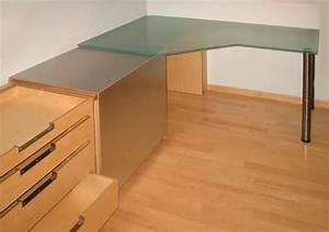 Bartresen Aus Glas : ludwig nied schreibtische schreibtisch aus mattiertem glas ~ Sanjose-hotels-ca.com Haus und Dekorationen