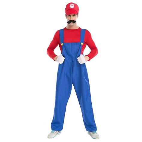 Halloween Costume Male Supermario Mario And Luigi Brothers