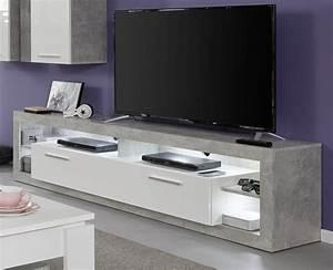 Fernsehtisch Weiß Hochglanz : tv lowboard rock wei hochglanz und stone design 200 cm ~ Yasmunasinghe.com Haus und Dekorationen