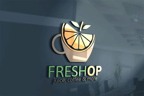 We started brainstorming ideas the very day we decided to pursue opening up a coffee shop, but it took seven months to find the perfect one (and seven more to finish the logo). Fresh Logo   Juice bar design, Shop name ideas, Cafe names ideas