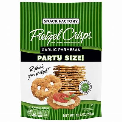 Pretzel Snack Crisps Garlic Parmesan Factory Oz