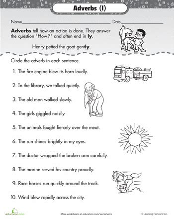find the adverb grammer adverbs worksheet adverbs