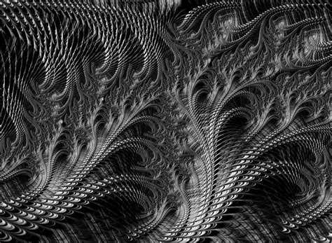 Abstract Black And White Artwork by Loops Black And White Fractal Abstract Digital