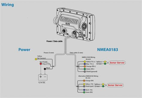 lowrance elite  hdi wiring diagram  wiring diagram