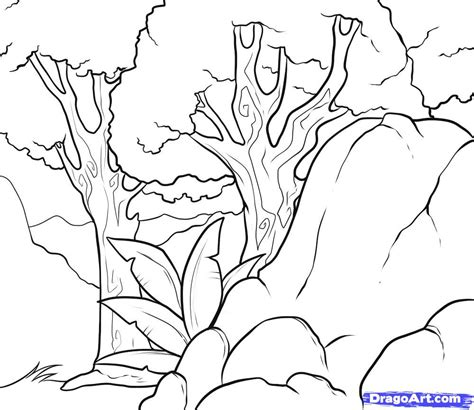Easy Backgrounds To Draw How To Draw A Background Step By Step Coloring Drawing