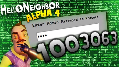 secret access code discovered in hello neighbor alpha 4 hello neighbor alpha 4