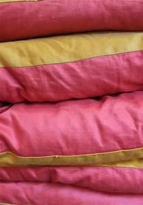 Edredon Plume D Oie : ancien dredon en coton bicolore et plumes d 39 oie ~ Nature-et-papiers.com Idées de Décoration