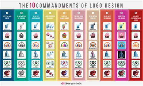 how to design a logo infographic the 10 commandments of logo design