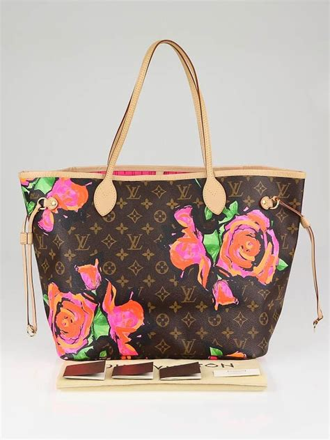 louis vuitton limited edition roses stephen sprouse neverfull mm bag yoogis closet