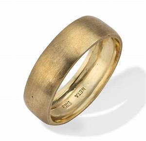 classic brushed matte 14k gold wedding ring With classic gold wedding rings