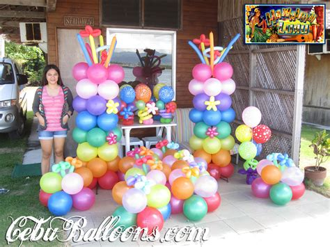 balloon decoration package hawaiian luau theme  mactan