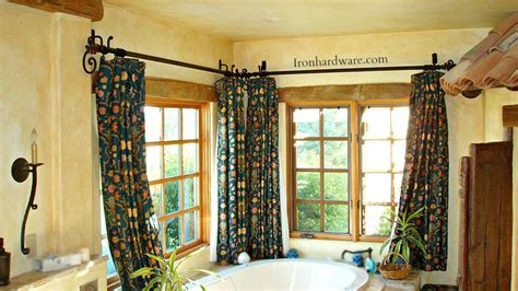 iron curtain rods  drapery hardware paso robles ironworks