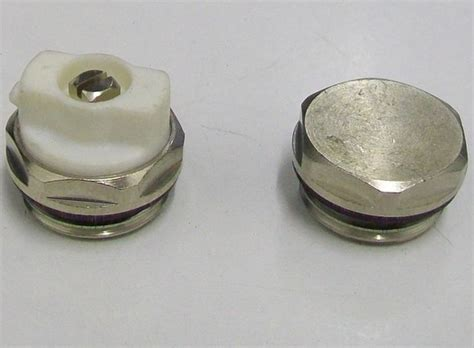 Radiator Directional Bleed Valve Vent and End Cap