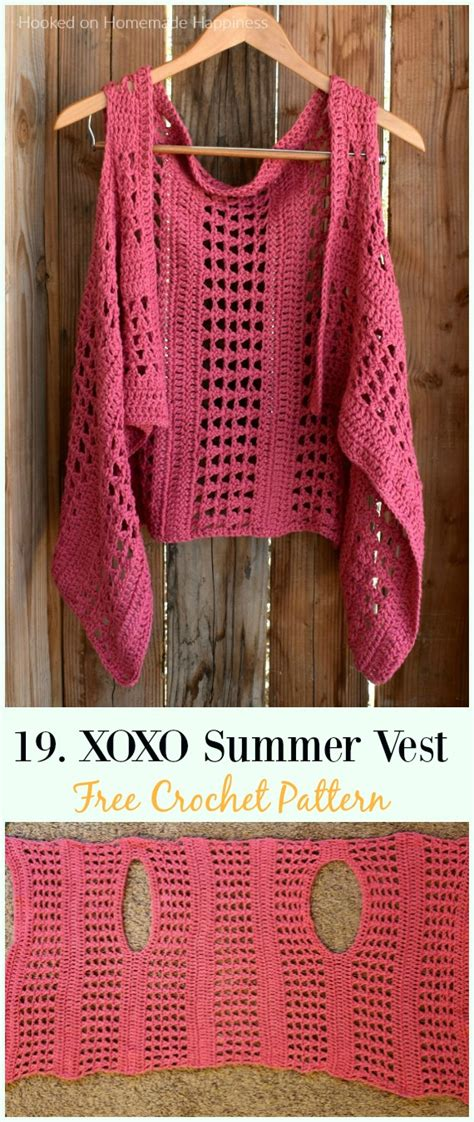 crochet women vest  patterns spring summer sweater