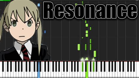resonance soul eater opening  piano tutorial
