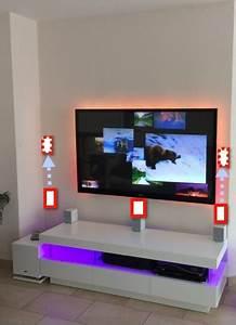 Fernseher An Der Wand : tv wand optimale h he m bel design idee f r sie ~ Frokenaadalensverden.com Haus und Dekorationen